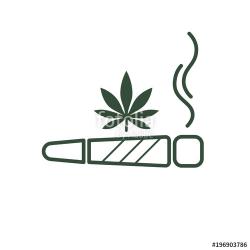 Cigarette with drug, marijuana cigarette rolled. Joint or ...