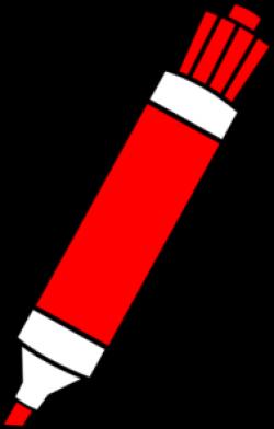 Red Dry Erase Marker Clip Art at Clker.com - vector clip art online ...