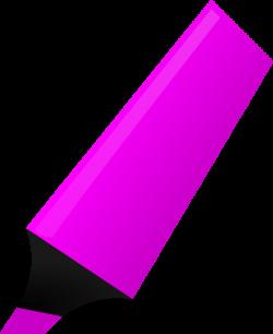 Highlighter Clip Art - Clipart Vector Illustration •