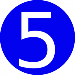 Blue, Rounded,with Number 5 Clip Art at Clker.com - vector clip art ...