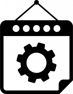 Gear On Mechanic Hanging Calendar Page Svg Png Icon Free Download ...