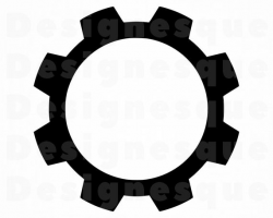 Gear #2 SVG, Gear SVG, Gear Icon, Mechanic Svg, Cogwheel Svg, Gear Clipart,  Gear Files for Cricut, Cut Files For Silhouette, Dxf, Png, Eps