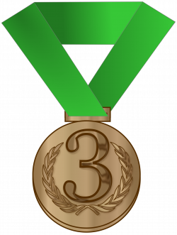 Clipart - Bronze medal / award