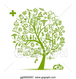 EPS Vector - Medical tree concept for your design. Stock ...