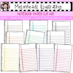 Notebook Paper clip art - Single Image - by Melonheadz