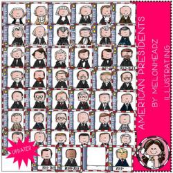 American Presidents clip art- by Melonheadz