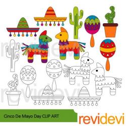 Cinco de mayo clipart sale / Mexican Fiesta clip art ...
