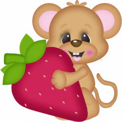 Strawberry Love Elements (15).png | Mice, Clip art and Food clipart