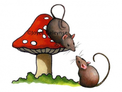 Clip Art Two Cute Mice with a Red by ToadstoolPrintables on ...