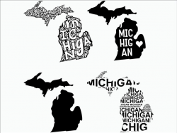 Michigan SVG/ Michigan clipart/ Michigan state svg/ Cricut / printable /  silhouette / vinyl decal / vector files for cutting machines