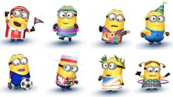 Despicable Me 2 Minion Rush: New Minions - Soccer Fan Minion, Peace and  Love Minion, Bratt's Out