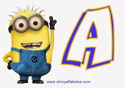 Free} printable Minion alphabet A-Z and 0-9 and a blank one ...