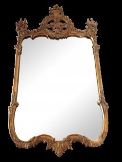 Vintage Gilt Wood Baroque Mirror | Chairish
