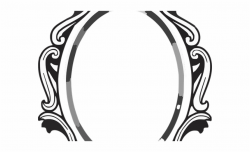 Baroque Frame Cliparts - Mirror Clipart Black And White ...