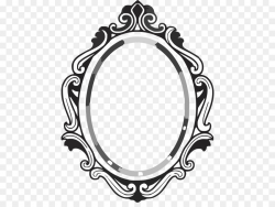 Black And White Frame clipart - Mirror, Circle, Font ...
