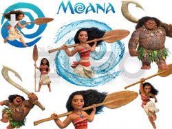 15 Disney Moana Digital Clipart With Mirror Files Instant