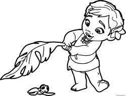 Print baby moana princess disney coloring pages | Magic ...