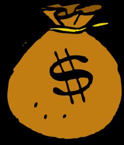Public Domain Clip Art Image | Illustration of a bag of money | ID ...