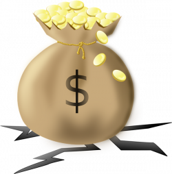 This clip art of a heavy money bag filled with gold coins is in the ...