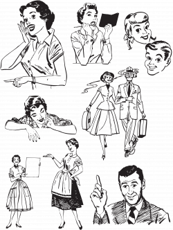 wg retro vectors | FIFTIES | Pinterest | Retro vector, Retro and ...