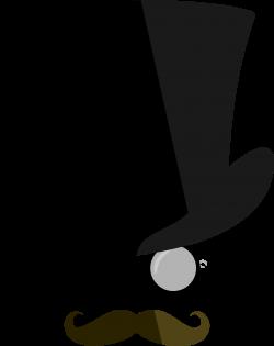 Clipart - Top hat, moustache, monocle