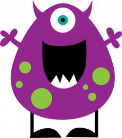free cute monster clip art | Blue Monster Clip Art Image - blue ...