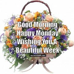 Good Morning Happy Monday Wishing You A Beautiful Week monday good ...