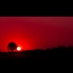 Sunset red shadow - 4k - www.opendesktop.org