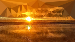Clipart - Low Poly Lens Flare Sunset