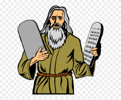 Moses Clipart Ten Commandment Tablet - Technically Moses Was ...