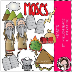 Moses clip art - Bible - COMBO PACK
