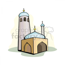 cartoon mosque clipart. Royalty-free clipart # 164435