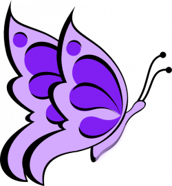 Butterfly Purple Light 05 Clip Art at Clker.com - vector clip art ...