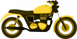 Clipart - Yellow Motorcycle
