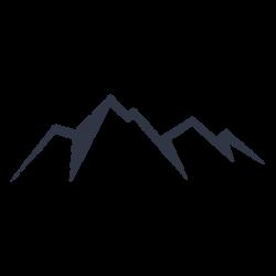 Four peak mountain icon - Transparent PNG & SVG vector