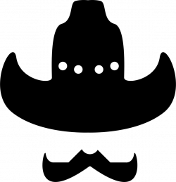 Cowboy Hat With Moustache Svg Png Icon Free Download (#57381 ...