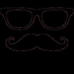 Moustache Square Glass Transparent & PNG Clipart Free ...