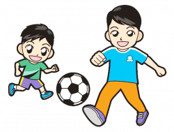Child Clip art - Play soccer parent child movement picture material ...