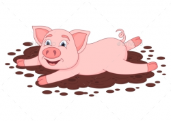 Mud Clipart cool pig 18 - 590 X 418 Free Clip Art stock ...