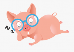 Pig Animated Clipart - Funny Pig Clipart , Transparent ...