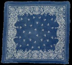 vintage blue bandana with Native American motifs … | pinturas…