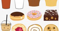 Cafe Clip Art, Digital Food Clipart, Bakery Clip Art, Iced ...