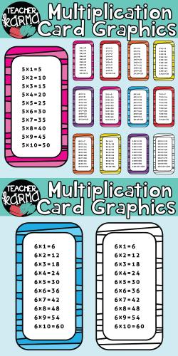 Multiplication Clipart, Times Tables | ThirdGradeTroop.com ...