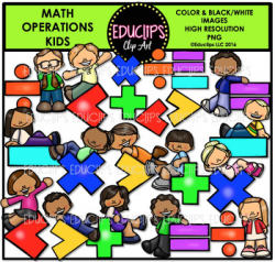 Math Operations Kids Clip Art Bundle {Educlips Clipart ...
