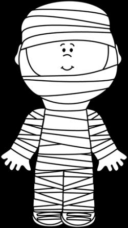 Black and White Boy Mummy | Halloween | Clip art, Black ...