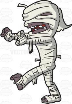 A creepy mummy walking #cartoon #clipart #vector ...