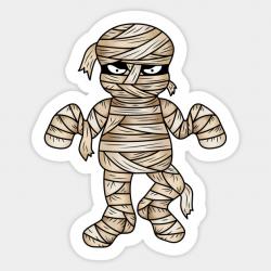 Cool Halloween Mummy Cartoon Illustration