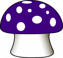 Purple Mushroom Clip Art at Clker.com - vector clip art online ...