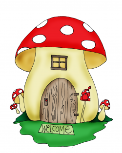 Free Dearie Dolls Digi Stamps: Mushroom House | Images: To ...
