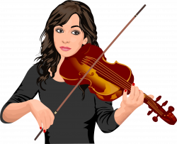 Clipart - Female Violinist Portrait
